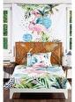 home-bath Tek Kişilik Nevresim Ve Duvar Örtüsü Seti-Coral Dream Renkli